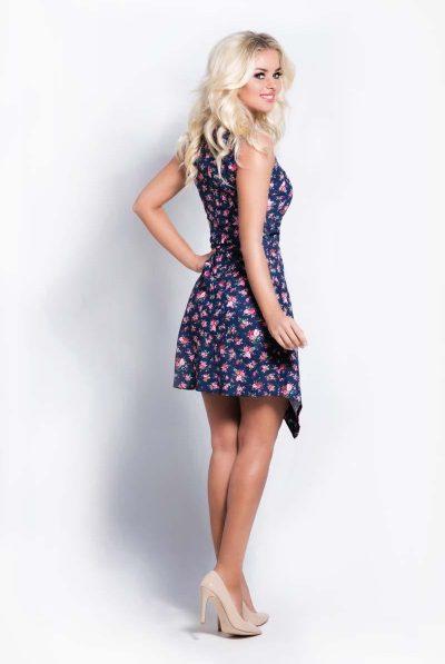 Back of floral assyemetcial dress