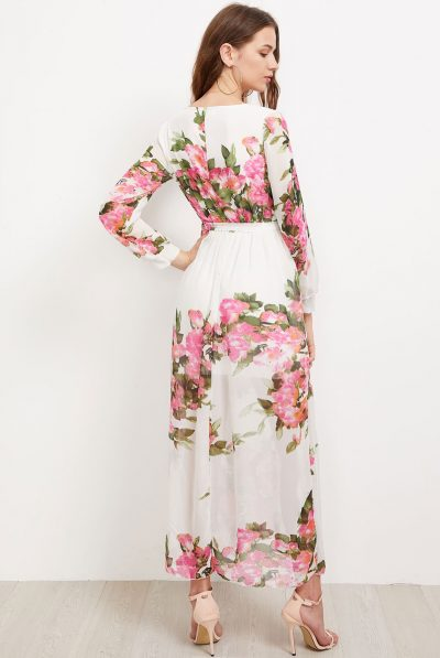 Back of floral maxi dress 67