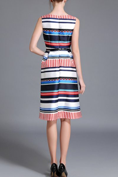 Back of multi clour dress 6
