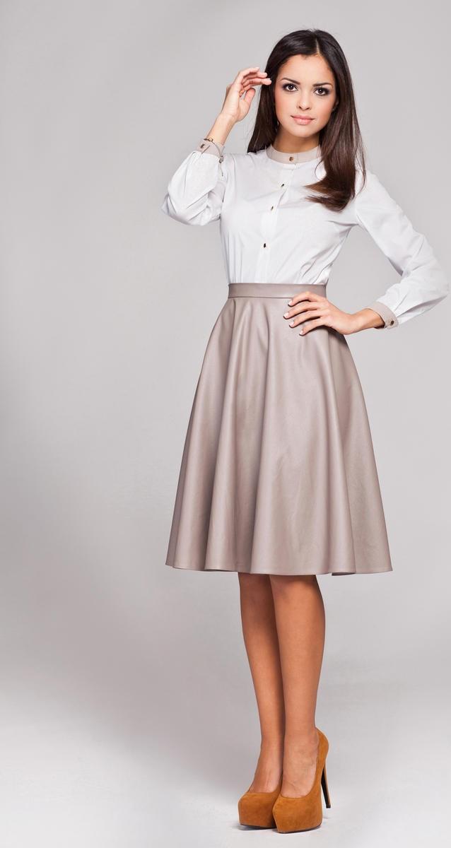 cute cheap great deals on fashion designer fashion Figl Beige Leather Skirt