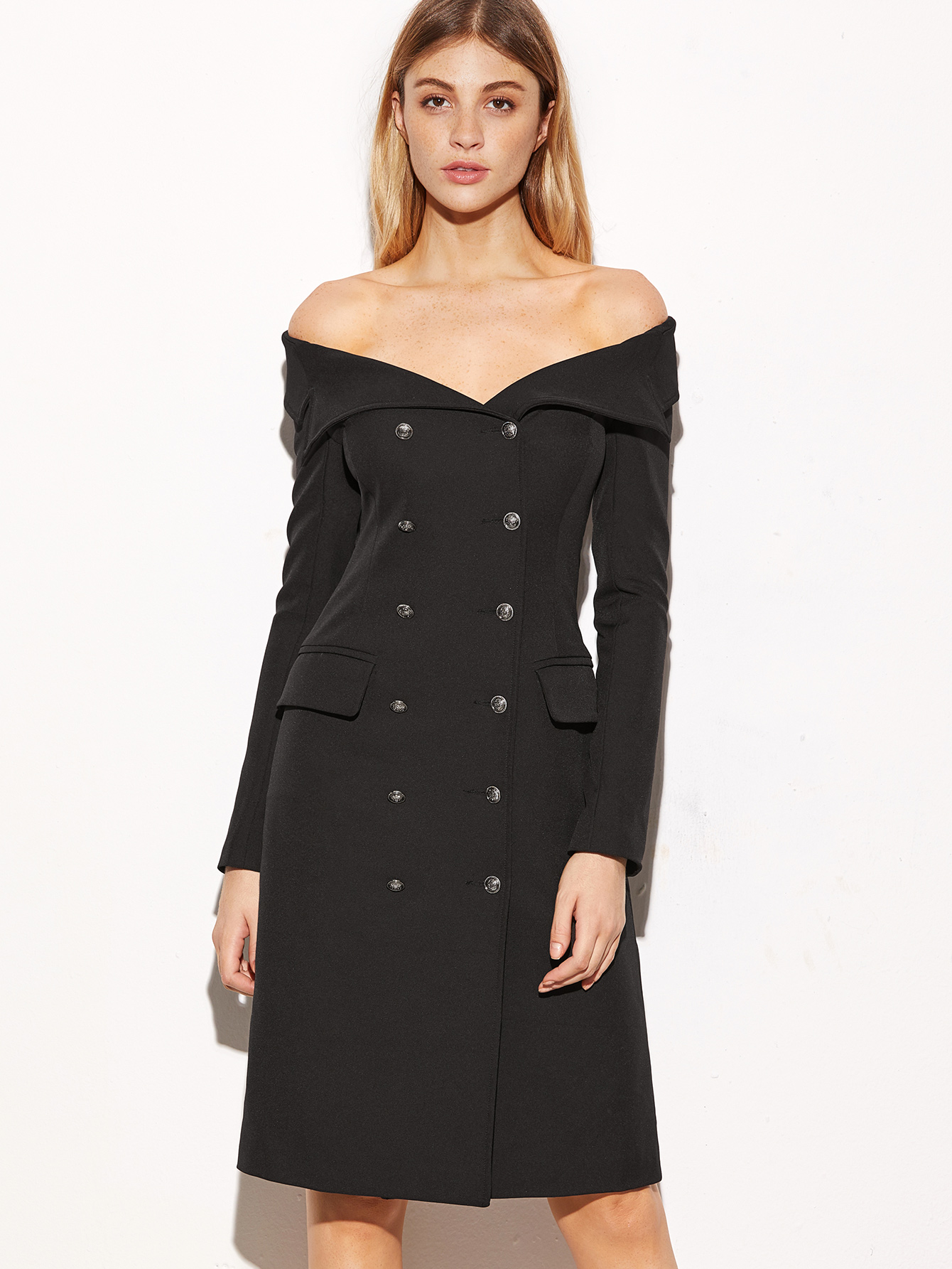 20aa908e8509 Off shoulder blazer dress