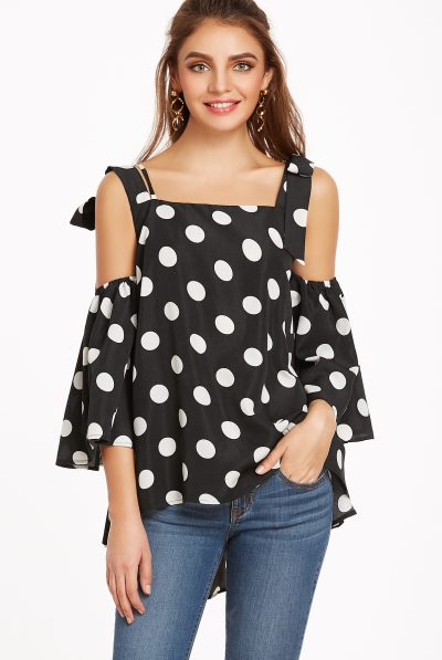 Black polka dot top 7
