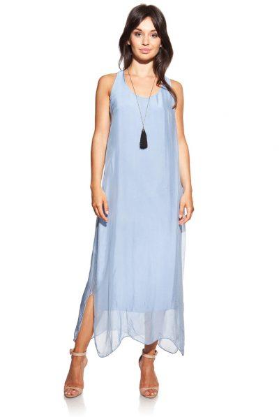 Blue Silk Dress 3