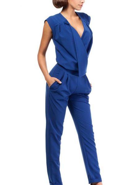 Blue wrap jumpsuit 67