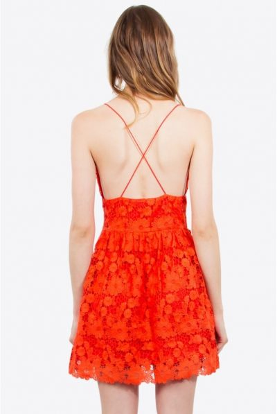 CROCHET RED DRESS 45