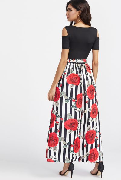 Caroline Maxi rrose dress