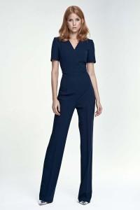 Dark blue jumpsuit sleeve