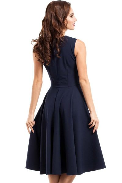 Dark blue midi dress 5