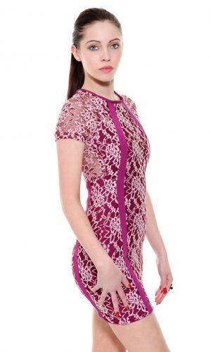 2072cceb33f Purple Lace Bandage Dress