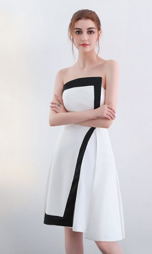 MONOCHROME SATIN DRESS