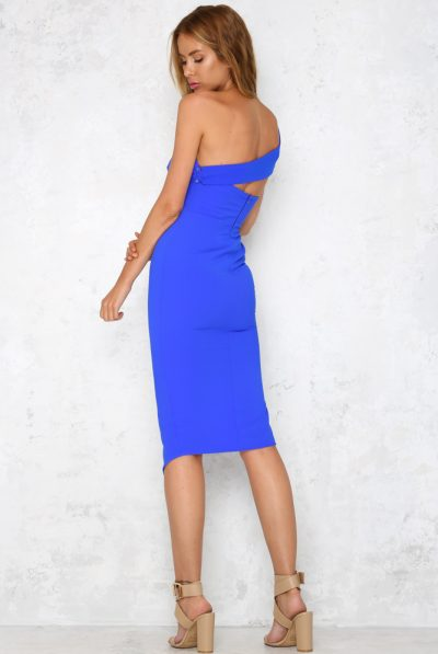 Madly in love midi dress cobalt 67