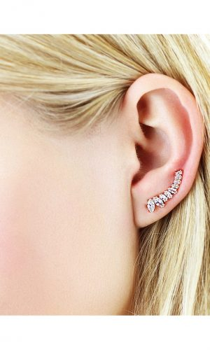 Marquise ear climbers