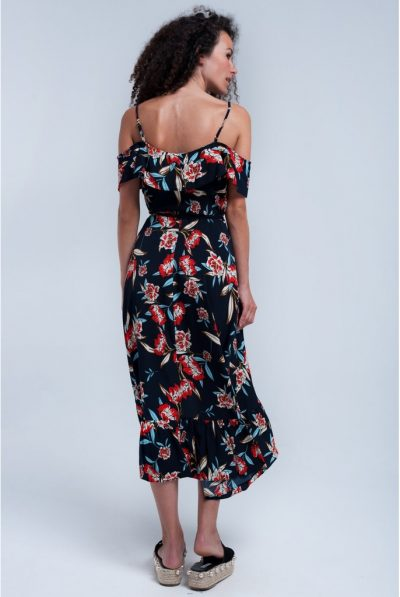 NAVY WRAP DRESS BACK 67
