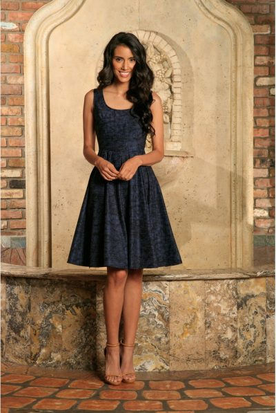 Navy blue dress 5