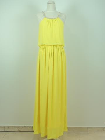 89cdd838864 Neon Yellow Maxi Dress