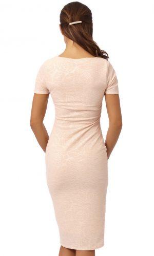 Peach midi dress 2