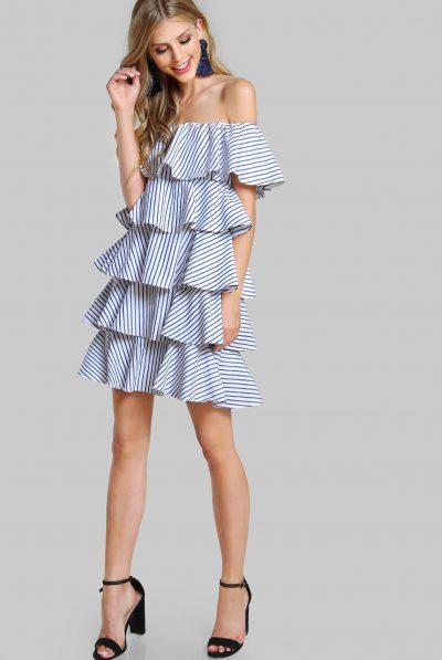 Pinstripe dress987