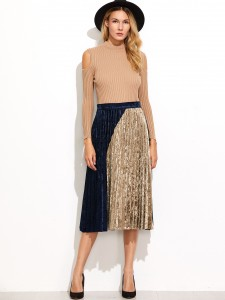 Pleated-Velvet-Skirt