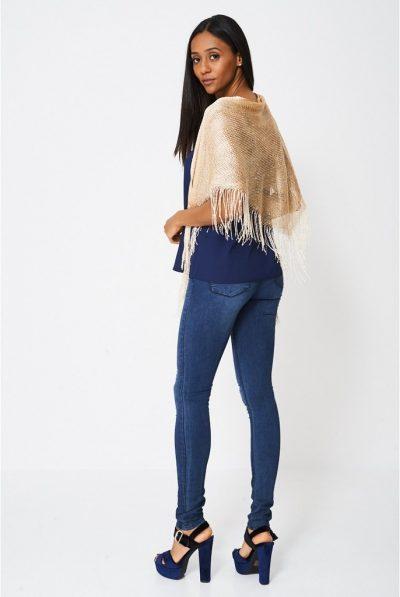 Pullover glitter scarf