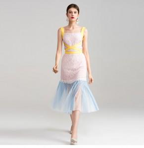 Rainbow dress 56