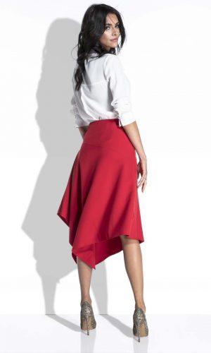 Red asymettricla skirt