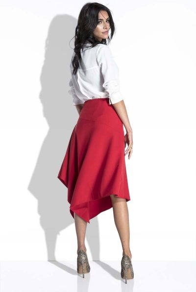 Red asymettricla skirt