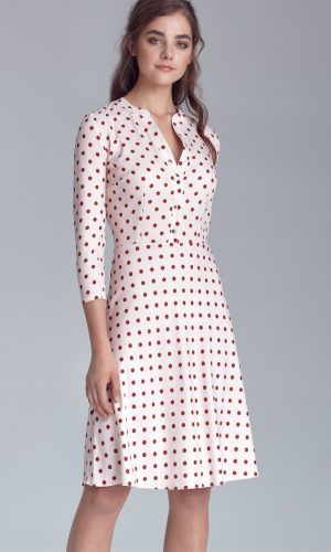 Spotty dress collar