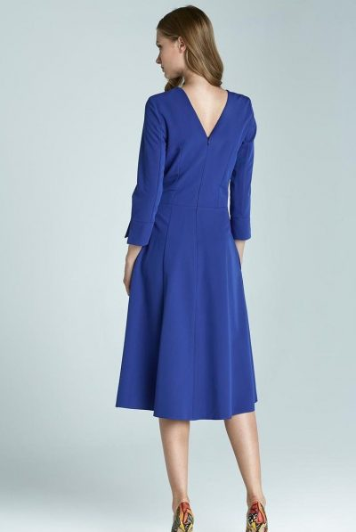 V neck dress blue