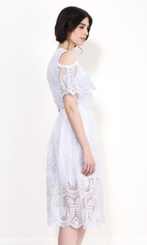 VOILET HORINZONTAL DRESS