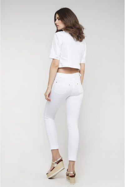 White cropped jacket 567