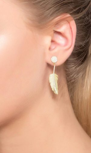 angelic feather earrings pic