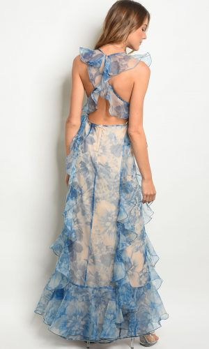 back blue ruffles