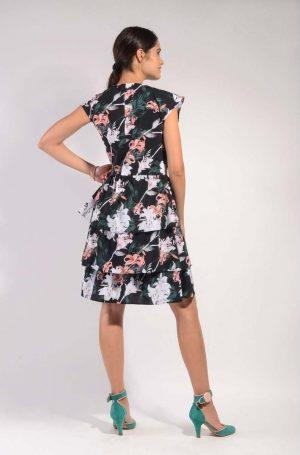 back flower dress