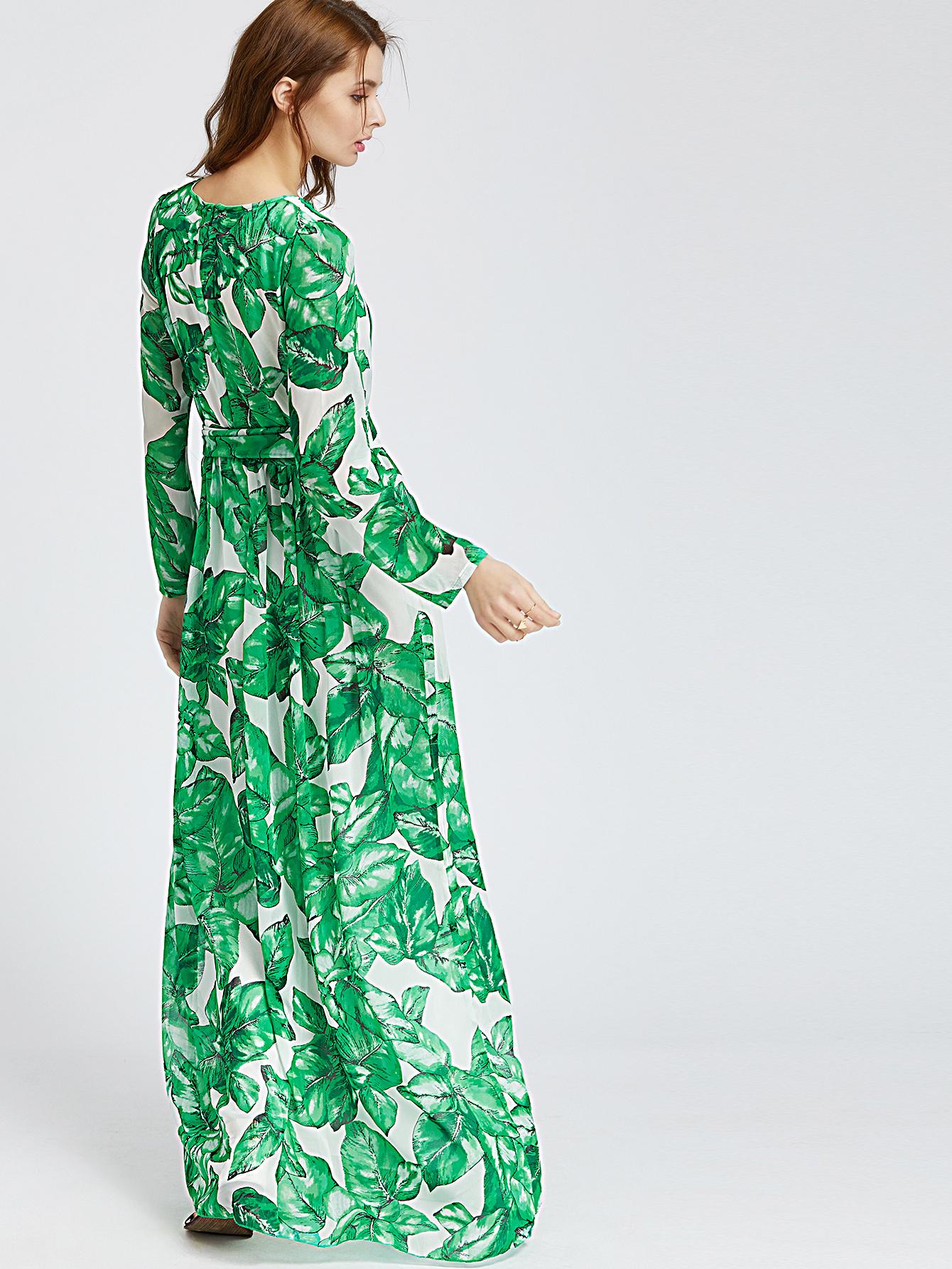 3122c306942c Palm Leaf Maxi Dress