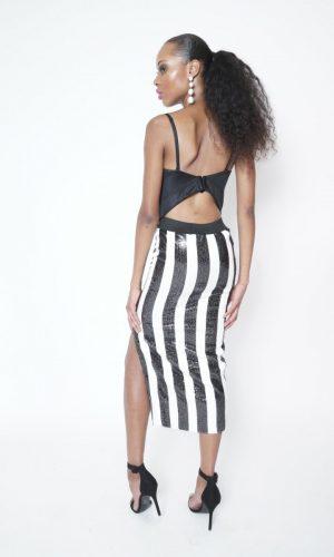 back od sequin skirt