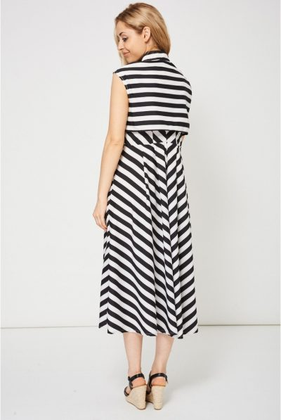 back of aline striped dress98