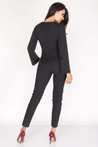 back of b;azer jumpsuit