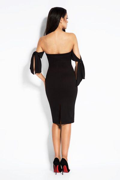 back of dress black