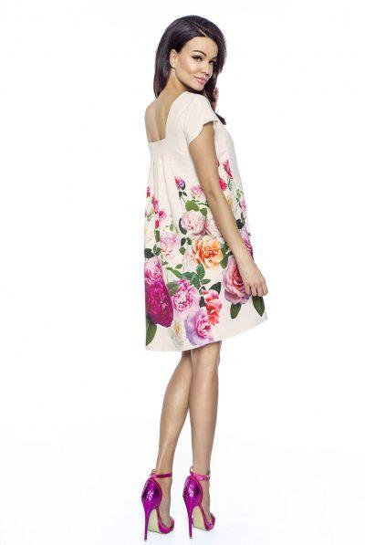 back of dress floral