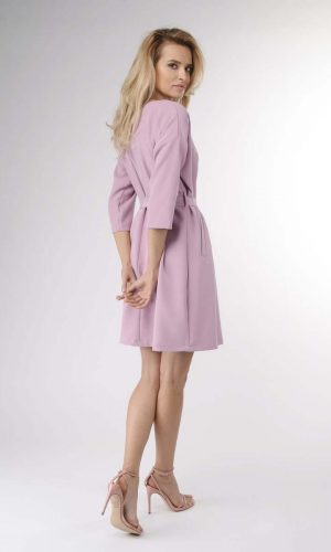 back of lilac dress