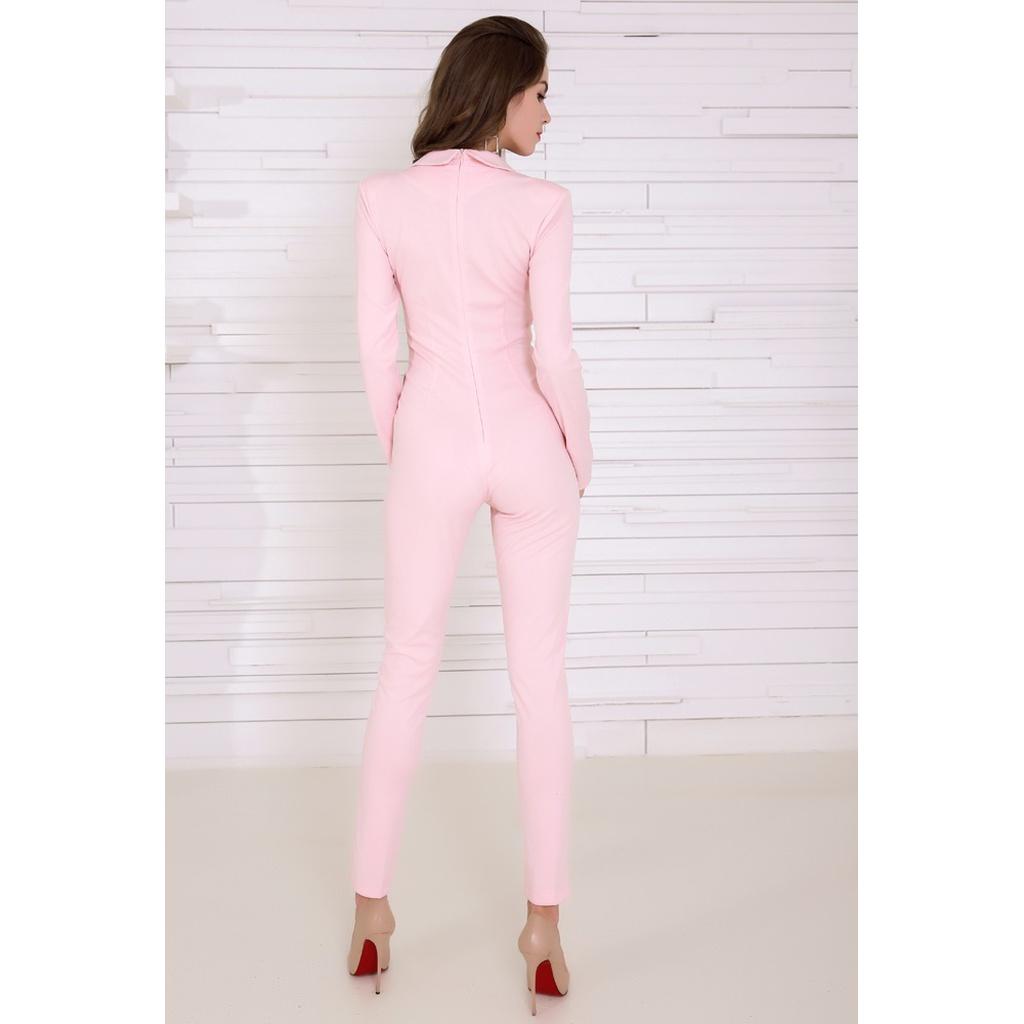 e08c6f56e6e Pretty in Pink Tuxedo Jumpsuit