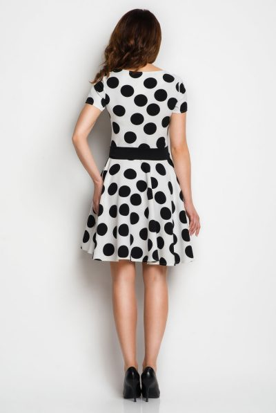 back of polka dot dress
