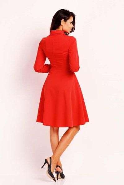 back of red aline