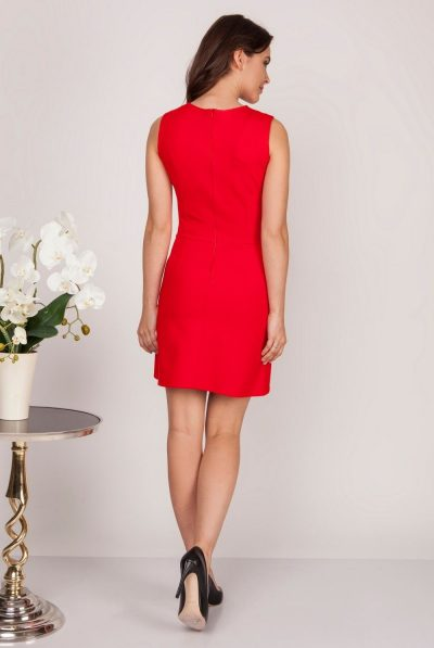 back of red dress 6789