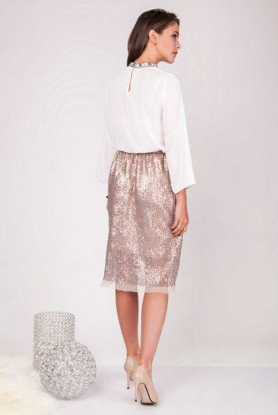 back of sequin skirt