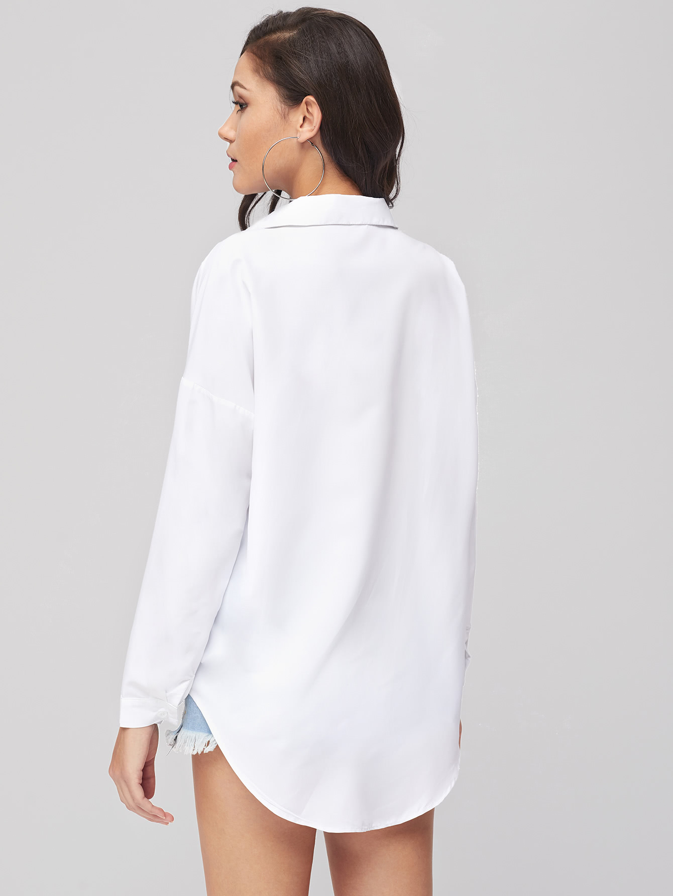 White Blouse With Collar