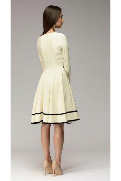 back of white dress
