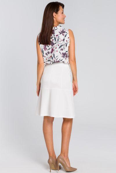 back of white skirt