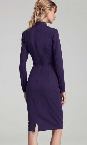 back purple keyhole dress