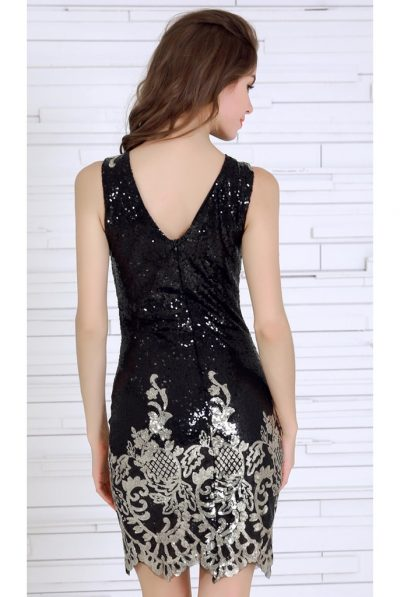 back sequin dress8